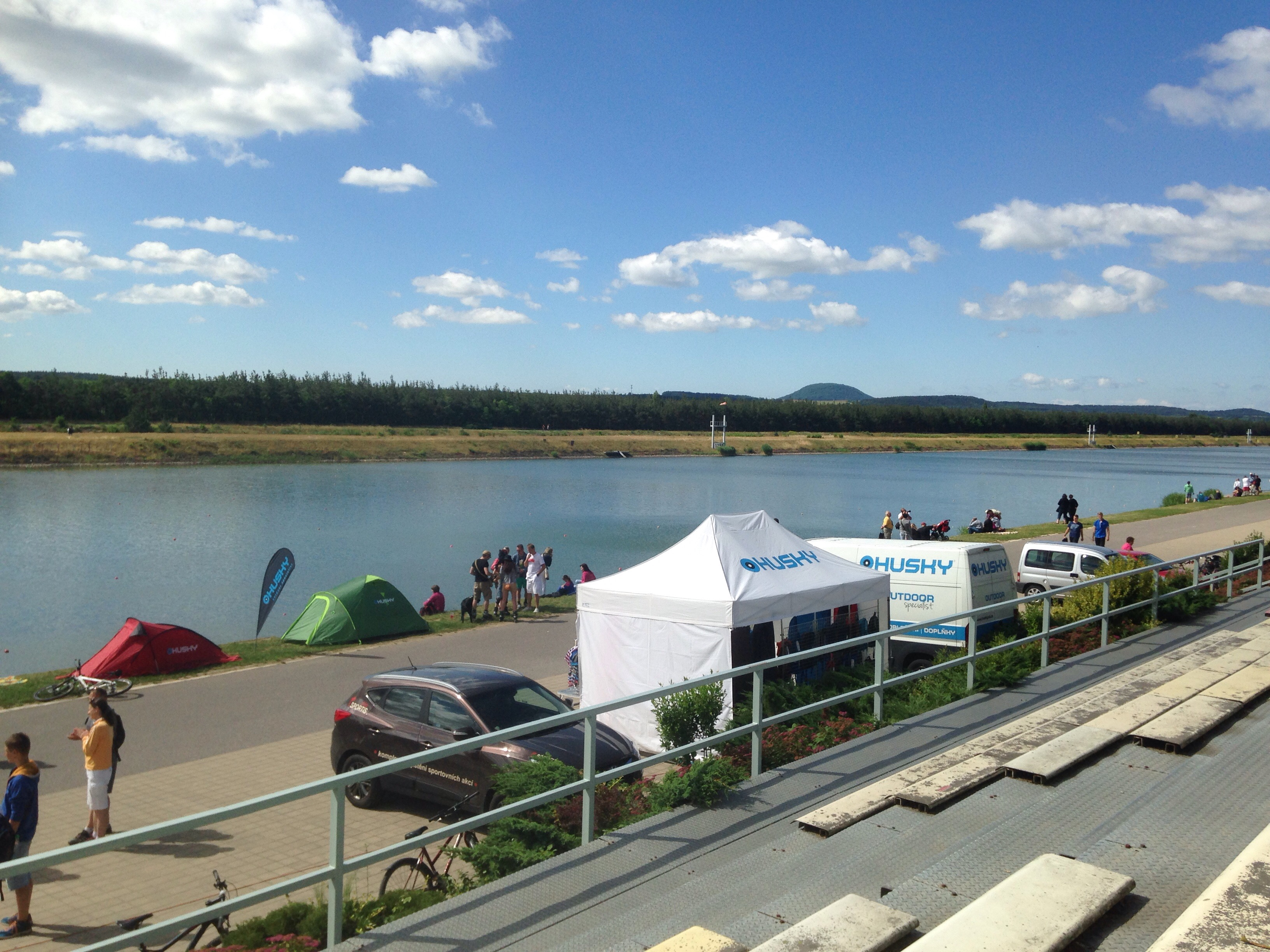 Beautiful weather at the Racice race course