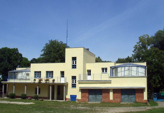 The beautiful 1930s club house of Hodonin rowing club