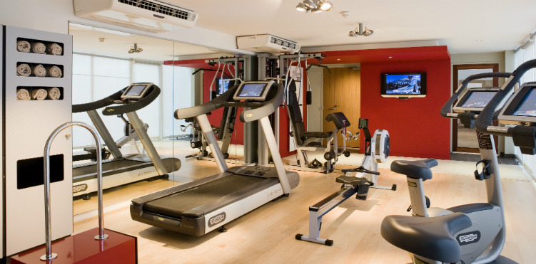 The Pullman hotel gym. There's a mirror so it's much smaller than it looks on the picture