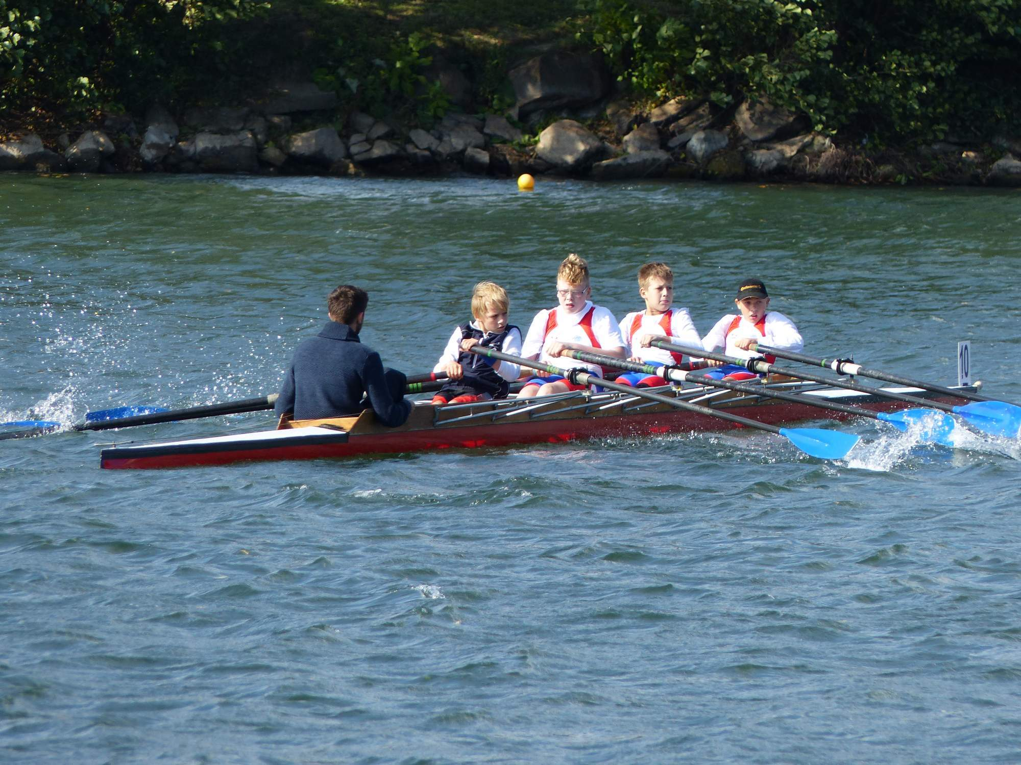 Very Experienced Stroke on a coxed quad