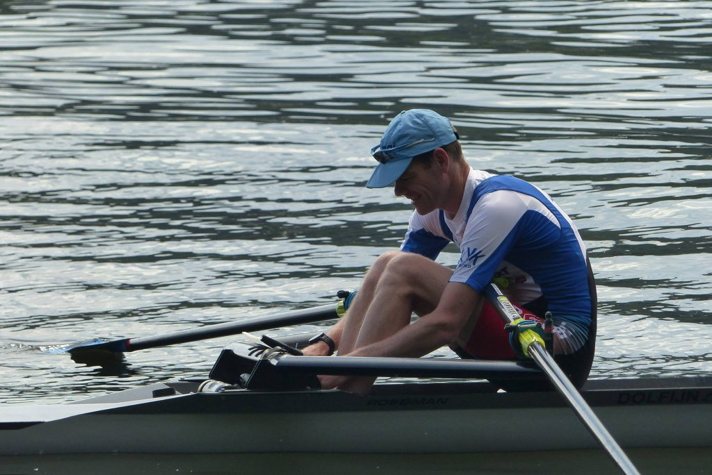 The Author almost ready to row to the start