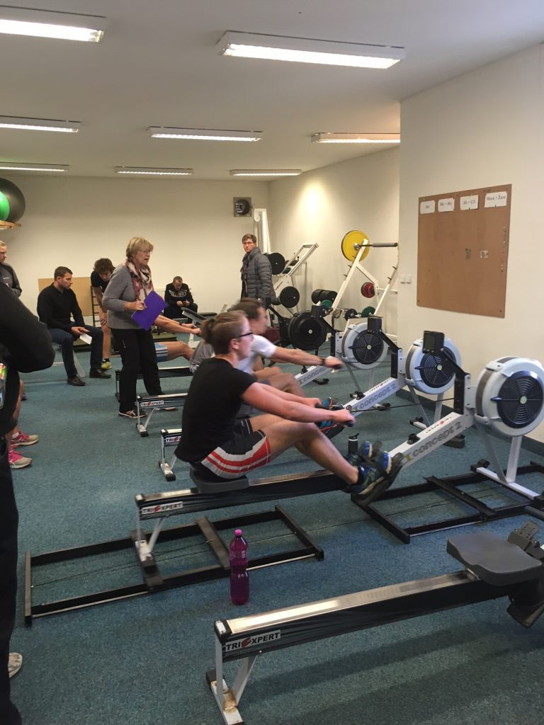rowers on ergs