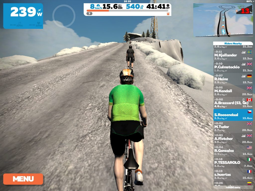 Zwift ride